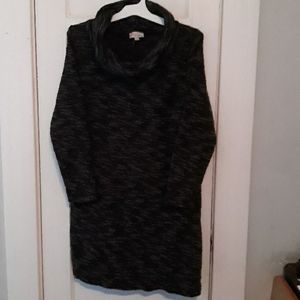 Anne Taylor Loft Knit Cowl Neck Sweater Dress XL